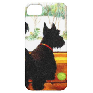 Two Scottie Dogs Waiting for Santa Claus iPhone 5 Case