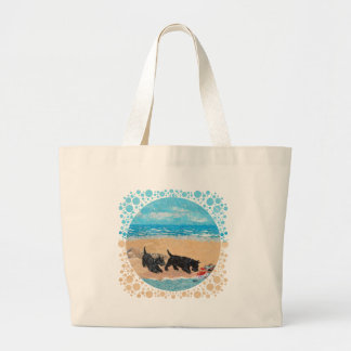 Two Scotties at the Beach Canvas Bag