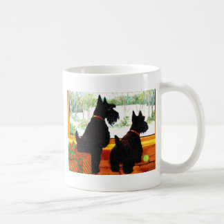 Two Scotty Dogs at Christmas Coffee Mug