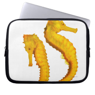 Two Sea Horses shoot on a white background in a Laptop Sleeve