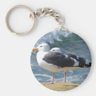 Two Seagulls Key Ring