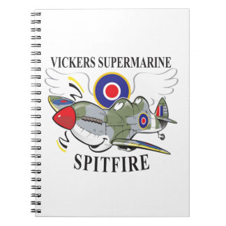two seat spitfire trainer notebook