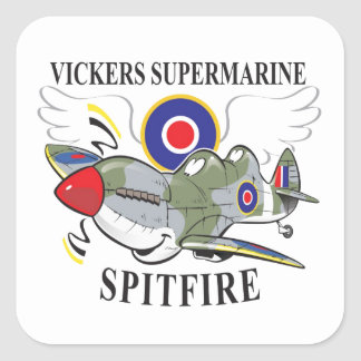 two seat spitfire trainer square sticker