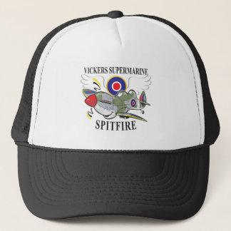 two seat spitfire trainer trucker hat