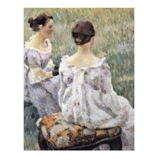 Two Seated Women By Borissow-Mussatow Wiktor Elpid 21.5 Cm X 28 Cm Flyer