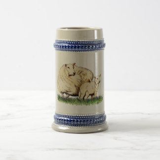 two sheep beer stein beer steins