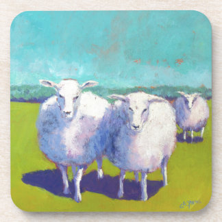 Two Sheep In Field Coaster
