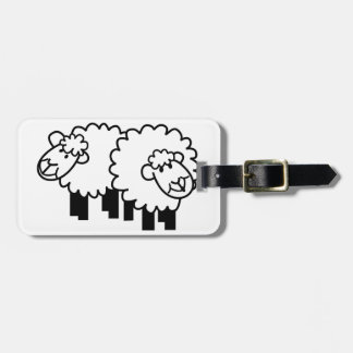 Two Sheep Luggage Tag