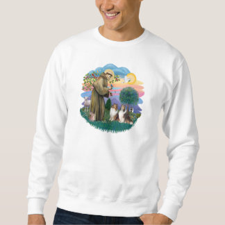 Two Shelties - St. Francis (ff) Sweatshirt