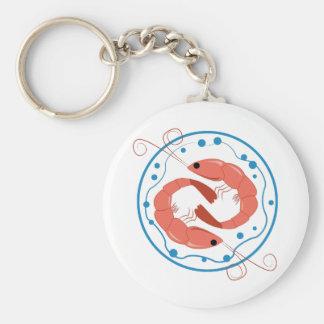Two Shrimp Key Chain