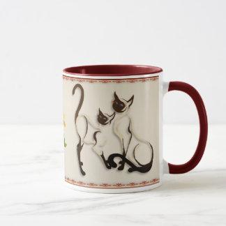 Two Siamese Cats Mugs
