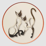Two Siamese Cats Stickers
