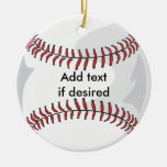 Two Sided Baseball Ornament