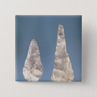 Two-sided blades, Lower Acheulean Period 15 Cm Square Badge