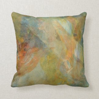 Two-sided Earthy Greens Digital Art Throw Pillow