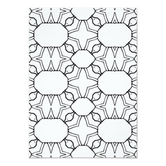 Two sided Geometric Pattern Coloring Card