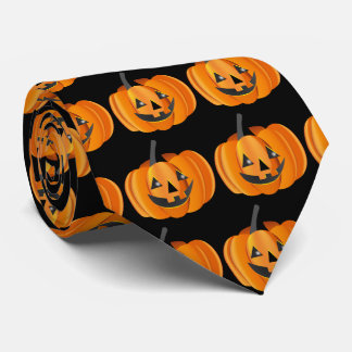 Two Sided Halloween Jack-O-Lantern Tie