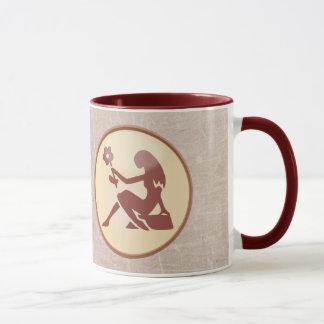 Two Sided Horoscope Sign Virgo Brown Coffee Mug