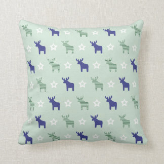 """two-sided """"Northern lights"""" Christmas pillow"""