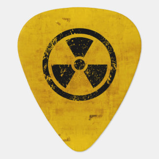 Two Sided Radiation Hazard Sign Plectrum