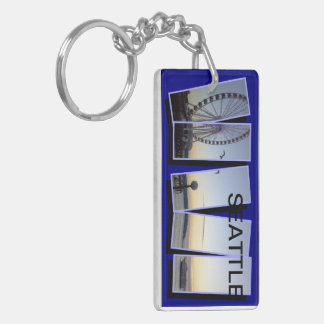 TWO SIDED SEATTLE KEY RING
