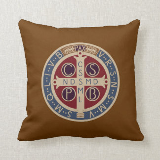 Two-Sided St. Benedict Medal Pillow Cushions