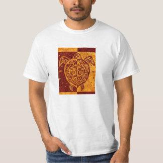 two sided tribal sea turtle mens shirt design