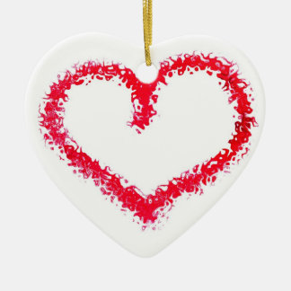 Two Sided Valentine Heart Ornament