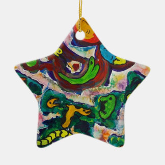 Two sides of a dream ceramic star decoration