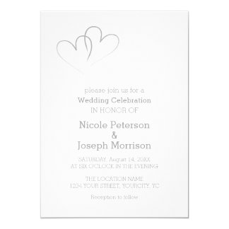 Two Silver Hearts intertwined Card