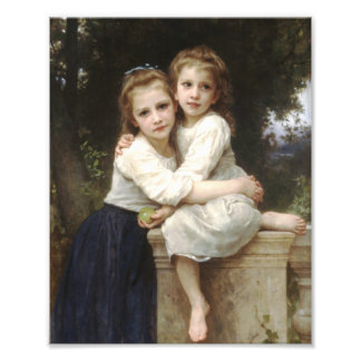 Two Sisters, 1901, William Adolphe Bouguereau Art Photo