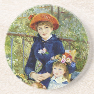 Two Sisters (On the Terrace) By Pierre Renoir Coaster