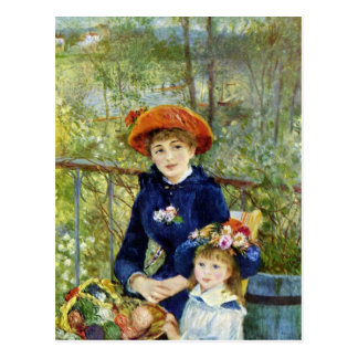 Two Sisters (On the Terrace) By Pierre Renoir Postcard