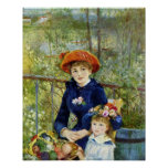 Two Sisters (On the Terrace) By Pierre Renoir Poster