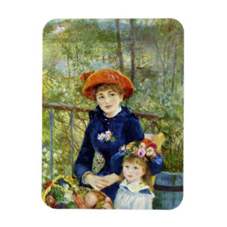 Two Sisters (On the Terrace) By Pierre Renoir Rectangular Photo Magnet