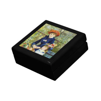 Two Sisters (On the Terrace) By Pierre Renoir Small Square Gift Box