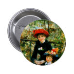 Two Sisters On the Terrace by Renoir Pinback Button