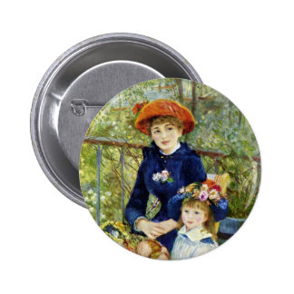 Two Sisters (On the Terrace) By Renoir 6 Cm Round Badge