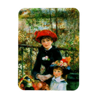 Two Sisters On the Terrace by Renoir Magnet