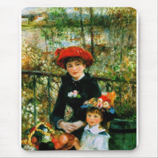 Two Sisters On the Terrace by Renoir Mouse Mat