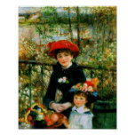 Two Sisters On the Terrace by Renoir Print