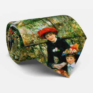 Two Sisters On the Terrace by Renoir Tie