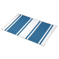 Two size Custom Colour Stripe White Cloth Placemat