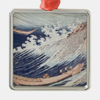 Two Small Fishing Boats on the Sea Christmas Ornament