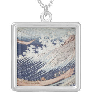 Two Small Fishing Boats on the Sea Silver Plated Necklace