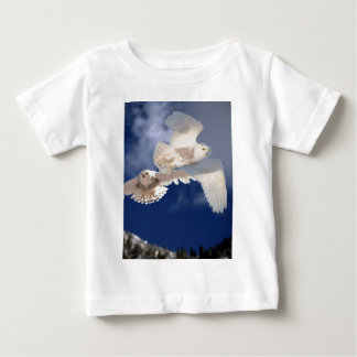 Two Snowy Owls in Flight Baby T-Shirt