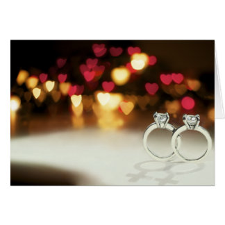 Two Solitaire Rings with Venus Shadows Card