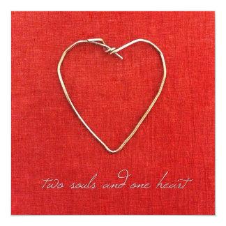 Two Souls, One Heart 13 Cm X 13 Cm Square Invitation Card