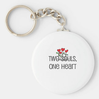 """Two Souls, One Heart"" design Key Ring"