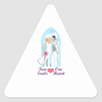 TWO SOULS ONE HEART TRIANGLE STICKER